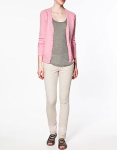 Basic cardigan from Zara. Those who know me will know that this is not my typical look (pastels, colors w/low saturation), but I like it! Right on trend for spring.