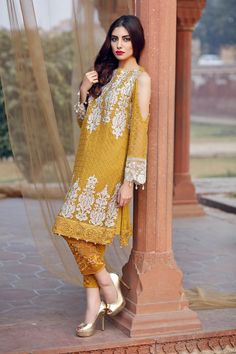 here is the latest collection of best latest party wear embroidered shirts with pencil, cigarette trousers and smoky pants designs Pakistani Formal Dresses, Pakistani Dress Design, Pakistani Outfits, Indian Dresses, Indian Outfits, Traditional Fashion, Traditional Dresses, Ethnic Fashion, Indian Fashion