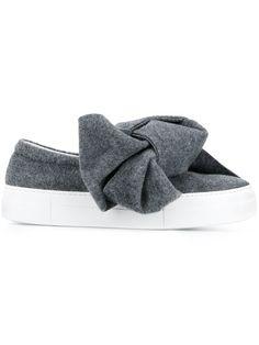 Shop Joshua Sanders bow detail slip-on sneakers.
