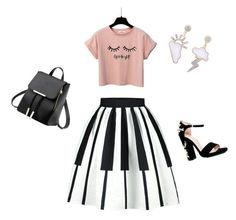 """""""Friday night out"""" by sandris29 on Polyvore featuring Boohoo, Pink, Leather and CasualChic"""