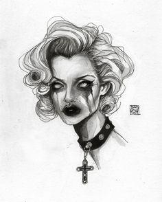 lucas david — What's inside a girl ? Gothic Drawings, Creepy Drawings, Dark Art Drawings, Art Drawings Sketches, Scary Art, Weird Art, Lucas David, Satanic Art, Grunge Art