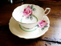 Check out this item in my Etsy shop https://www.etsy.com/listing/226210834/paragon-tea-cup-and-saucer-yellow-with