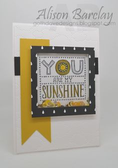 Gothdove Designs - Alison Barclay Stampin' Up! ® Australia : Stampin' Up! Australia - Sunshine Shaker Card with Back to Black DSP