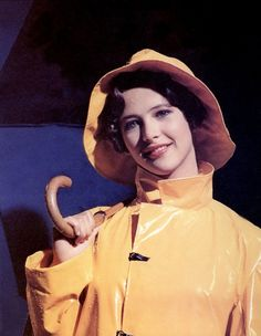 Vintage Yellow PVC Raincoat & Hat