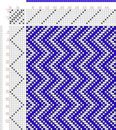 Hand Weaving Draft: Page 42, Figure 29, Donat, Franz Large Book of Textile Patterns, 8S, 8T Max float 3 - Handweaving.net Hand Weaving and Draft Archive...