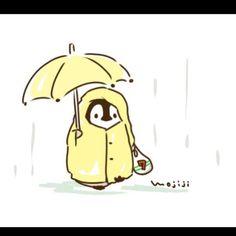 もじじさんはInstagramを利用しています:「あめのひの おかいものは めんどうくさい #梅雨 #ねこぺん #もじじ」 Penguin Images, Penguin Art, Cute Animal Drawings Kawaii, Cute Drawings, Cute Gif, Funny Cute, Cute Images, Cute Pictures, Cute Penguins