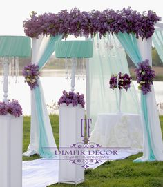 Wedding ● Ceremony Decorations lilac & white & mint,