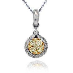 Arthurs Collection Yellow Gold DIAMOND Necklaces PDR-13597 #ArthursJewelers