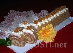 Ořechová roláda se šlehačkou – Hančiny Sladkosti.net Cake, Food, Pineapple, Kuchen, Essen, Meals, Torte, Cookies, Yemek