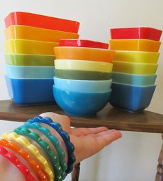 Rainbows of Vintage | Flickr - My favorite collections, Pyrex, Fire King, Hazel Atlas, and Bakelite :)