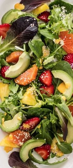 Japanese Sunshine Salad with Ginger Dressing // light, refreshing, gorgeous