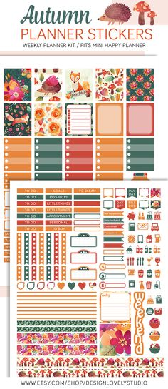 Printable Planner Stickers Kit
