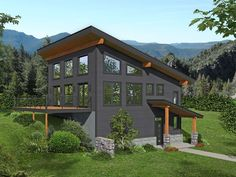 062H-0298: Modern Mountain House Plan Best House Plans, House Floor Plans, Two Story House Plans, Porch Interior, Country Style House Plans, House Stairs, Build Your Dream Home, New Home Designs, House Design
