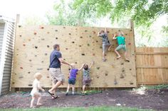backyard rock climbing wall for kids