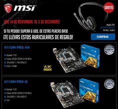 Comprar placas base en MSI tiene regalo
