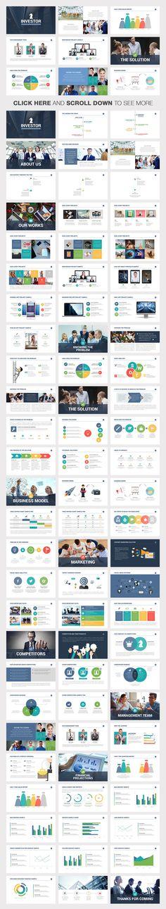 Investor Pitch Deck Powerpoint by Slidedizer on @creativemarket