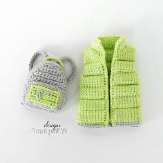 Pattern Vest and backpack