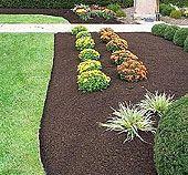 rubber mulch, green thumb, yard, black mulch, landscap idea, outdoor, flowersfutur garden, flower beds, garden plants