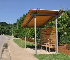 Bus shelter in Asheville.