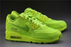 2014 New Nike Air Max 90 Womens Shoes Neon Green