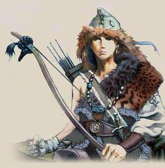 The primary weapon of the Scythians was their short composite bow, which could fire an arrow up to eighty yards. When they hunted birds, the Scythians used a fine arrowhead, as they aimed for the eyes. When they shot at other warriors, however, the Scythians used barbed arrowheads designed to tear a wound open on the way out. They also brewed their own poisons for their arrow tips, a mixture of snake venom, putrefied human blood, and, to hasten infection, dung.