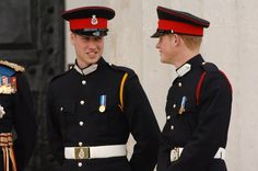 Pin for Later: Prince William and Prince Harry's Cutest Moments Together Through the Years  Will gave his little brother a cute look when Prince Harry was commissioned as a Second Lieutenant at Sandhurst Military Academy in April 2006.
