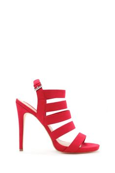 Faux Suede Caged Stilettos | Forever 21 - 2000169429
