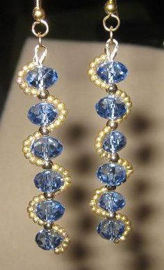 Dangle earrings with crystal beads. Craft ideas from LC.Pandahall.com…