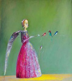 Ştefan Câlţia - Fata cu aripa/ The girl with the wing Figurative Art, Disney Characters, Fictional Characters, Eye Candy, Mystery, Wings, Sculpture, Disney Princess, Artwork