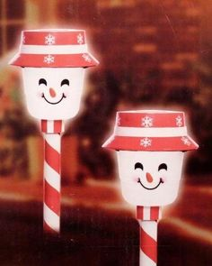 2 Solar LED Snowman Pathway Markers lights by holiday time. $29.99. These happy little snowman pathway markers are sure to brighten up your yard and bring a lot of holiday cheer!2 Snowman LED pathway markersCool white bulbsOutdoor useNo extension cords or outlets neededSolar and battery powered15 foot lighted length