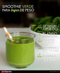 Smoothie verde para #bajardepeso #bellezafem #actitudfem #smoothie #receta