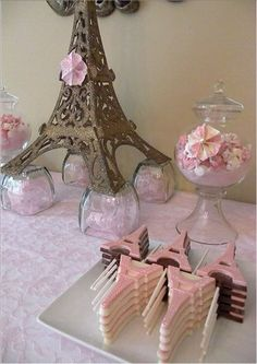 A pink Paris-themed party is such a pretty theme for a girl's first birthday bash!