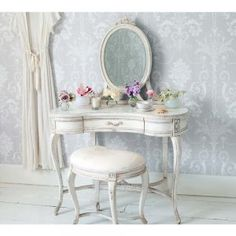 Delphine Shabby Chic Dressing Table - French Bedroom Dressing Tables