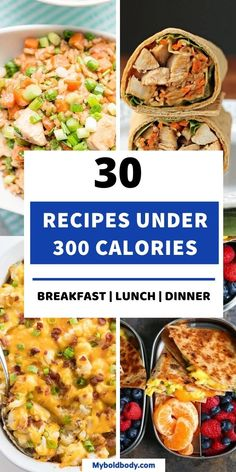 Under 300 Calorie Meals, Easy Low Calorie Dinners, Healthy Low Calorie Dinner, Dinner Under 300 Calories, Healthy Low Calorie Meals, No Calorie Foods, Healthy Meal Prep, Low Calorie Recipes, Easy Healthy Recipes