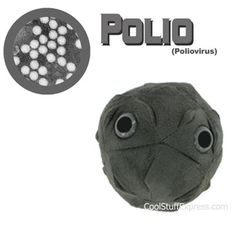 Polio virus Stuffed Plush Toy