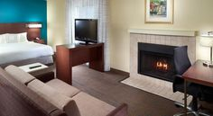 Residence Inn Nashville Airport Nashville This hotel is 8 miles from downtown Nashville and 3 miles from the Nashville International Airport. The hotel offers an airport shuttle and suites with a flat-screen TV.