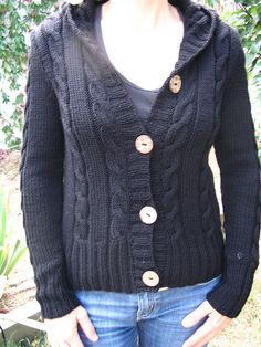 Knitting Pattern Central Park Hoodie : 1000+ images about knit: cardigans- hooded on Pinterest ...