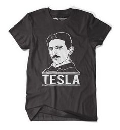Tesla T-Shirt - Get This Tesla T-Shirt today! Professionally printed discharged, High-quality, preshrunk 100% combed cotton jersey. Ships within 2 business days #Tesla