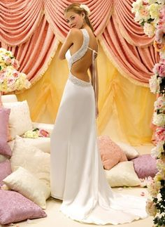 1000 images about reception destination collection on for Super low back wedding dress