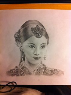 A famous Chinese actress in an ancient China Palace drama
