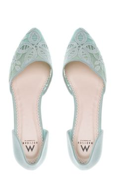 Mint Lace Flats ♥