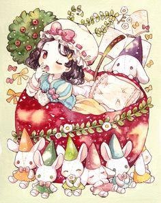 「白雪姫はおねむなの」/「もかろーる」のイラスト [pixiv]