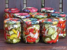 Sałatka obiadowa na zimę Fresh Rolls, Preserves, Mason Jars, Food And Drink, Stuffed Peppers, Canning, Vegetables, Healthy, Ethnic Recipes