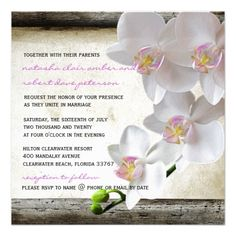 ShoppingWhite Orchids Chic Elegant Country Wedding Invites Custom Invitationslowest price for you. In addition you can compare price with another store and read helpful reviews. Buy