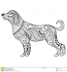 mandala hund welpr | julia | ausmalbilder hunde, mandalas