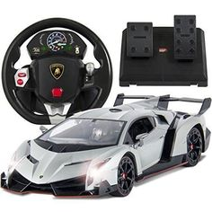 Best Choice Products 1/14 Scale RC Lamborghini Veneno Realistic Driving Gravity Sensor Remote Control Car Silver #lamborghiniveneno