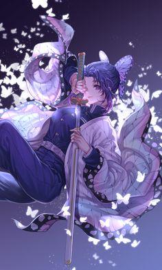 Demon Slayer: Kimetsu no Yaiba, Shinobu Kochou, Demon Slayer: Kimetsu no Yaiba bookmarks / 胡蝶しのぶ - pixiv Loli Kawaii, Kawaii Anime Girl, Anime Art Girl, Anime Girl Cute, Anime Angel, Anime Demon, Chica Anime Manga, Otaku Anime, Demon Slayer