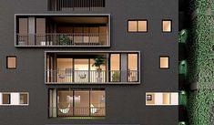 Com metragens variando entre 80 e 240 metros quadrados, os apartamentos ocupam a totalidade da laje, sendo 11 unidades assimétricas com sete tipologias diferentes