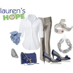 Chic and Comfortable: Neutral basics are wardrobe staples for everyone Love the chunky beaded necklace and updated med. ID bracelet. (Kudos Lauren's Hope!)