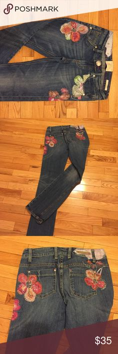 Bebock Embelished jeans Wow Factor!!! The details on these jeans will have standing out. SIZE 10 Skinny Berock Jeans Straight Leg
